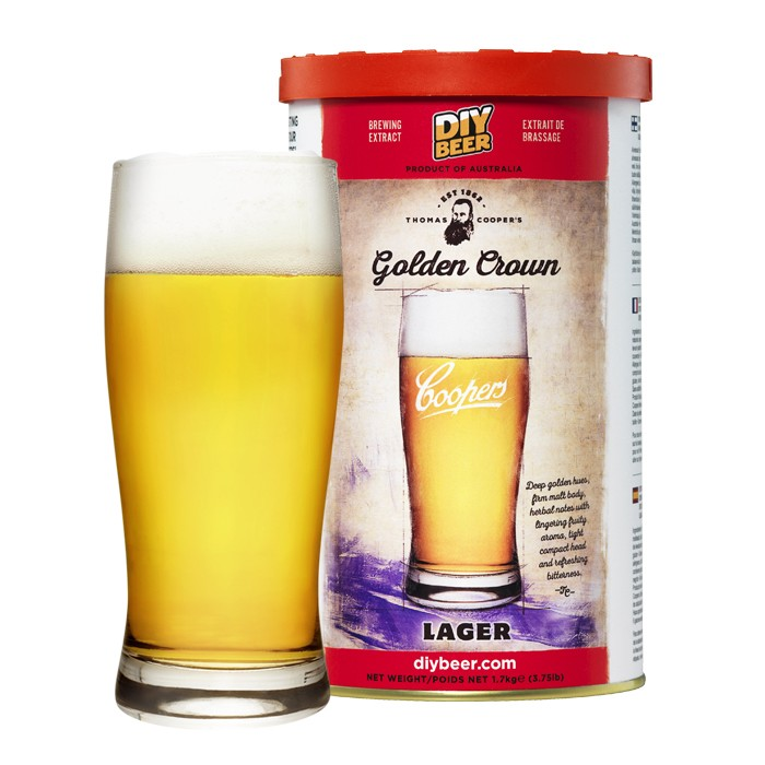 Coopers Golden Crown Lager (1,7kg)